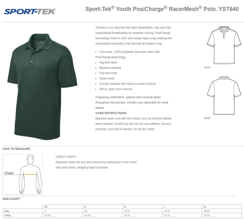 Youth Sizing Chart